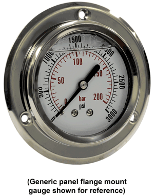 "AFS-CF-1C-002-E Compound Gauge, 30""HG to 30 PSI, Panel Flan"